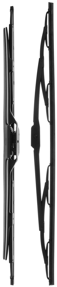 Щетка стеклоочистителя Bosch 602S, каркасная, со спойлером, длина 60 см, 2 шт3397118302Щетка Bosch 602S, выполненная по современной технологии из высококачественных материалов, оптимально подходит для замены оригинальных щеток, установленных на конвейере. Обеспечивает идеальную очистку стекла в любую погоду. TWIN Spoiler - серия классических каркасных щеток со спойлером. Эти щетки имеют полностью металлический каркас с двойной защитой от коррозии и сверхточный профиль резинового элемента с двумя чистящими кромками. Спойлер, выполненный в виде крыла, закрывает каркас щетки от воздушного потока. Комплектация: 2 шт.