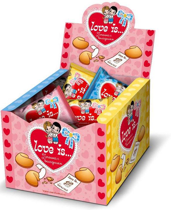 Love is Набор песочного печенья с вкладышами, 38 х 6 г 4603720388845