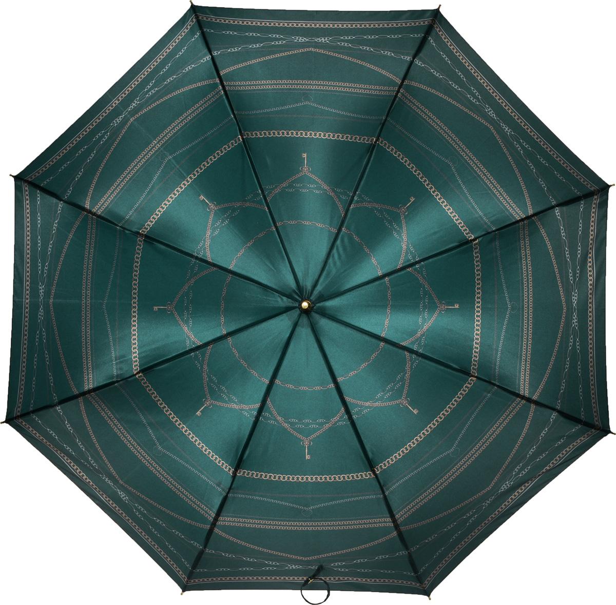 Зонт женский Fabretti, механика, трость, цвет: зеленый. 16081608Зонт-трость женский Fabrett.Оригинальный женский зонт на все случаи жизни. Зонтик имеет стильный, неброский дизайн.