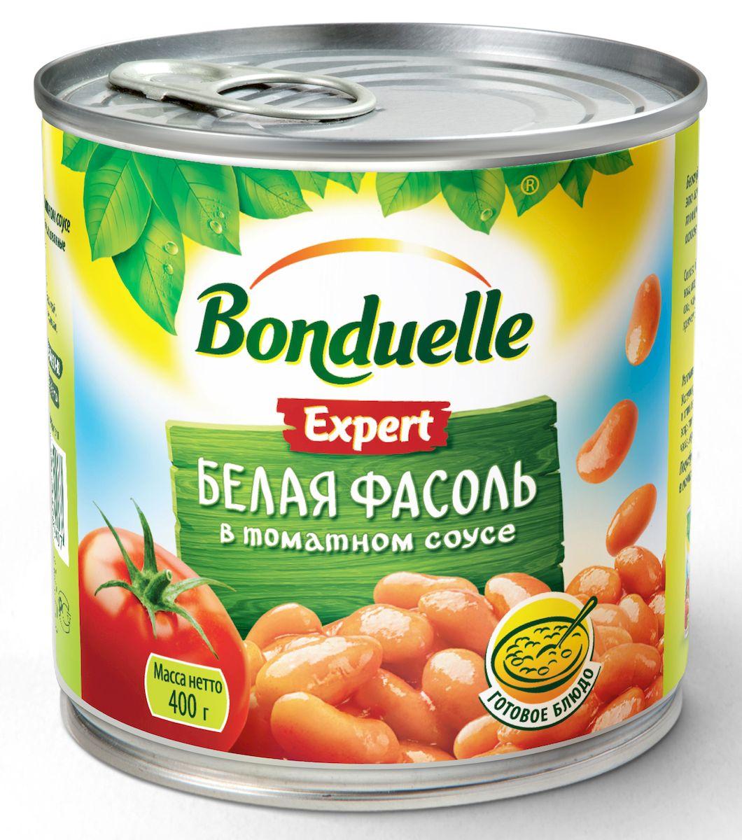 Bonduelle белая фасоль в томатном соусе 400 г
