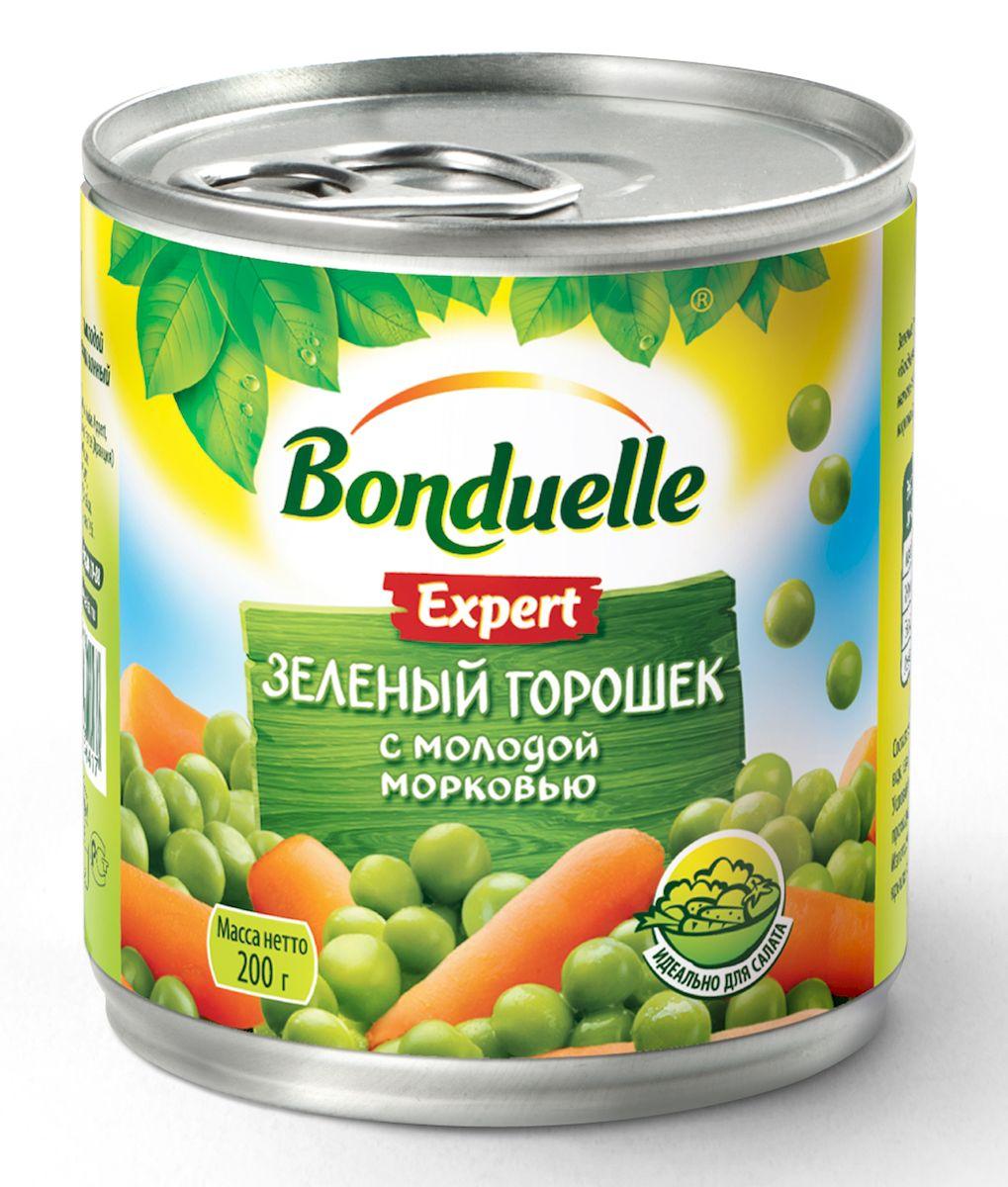 Bonduelle зеленый горошек с молодой морковью, 200 г
