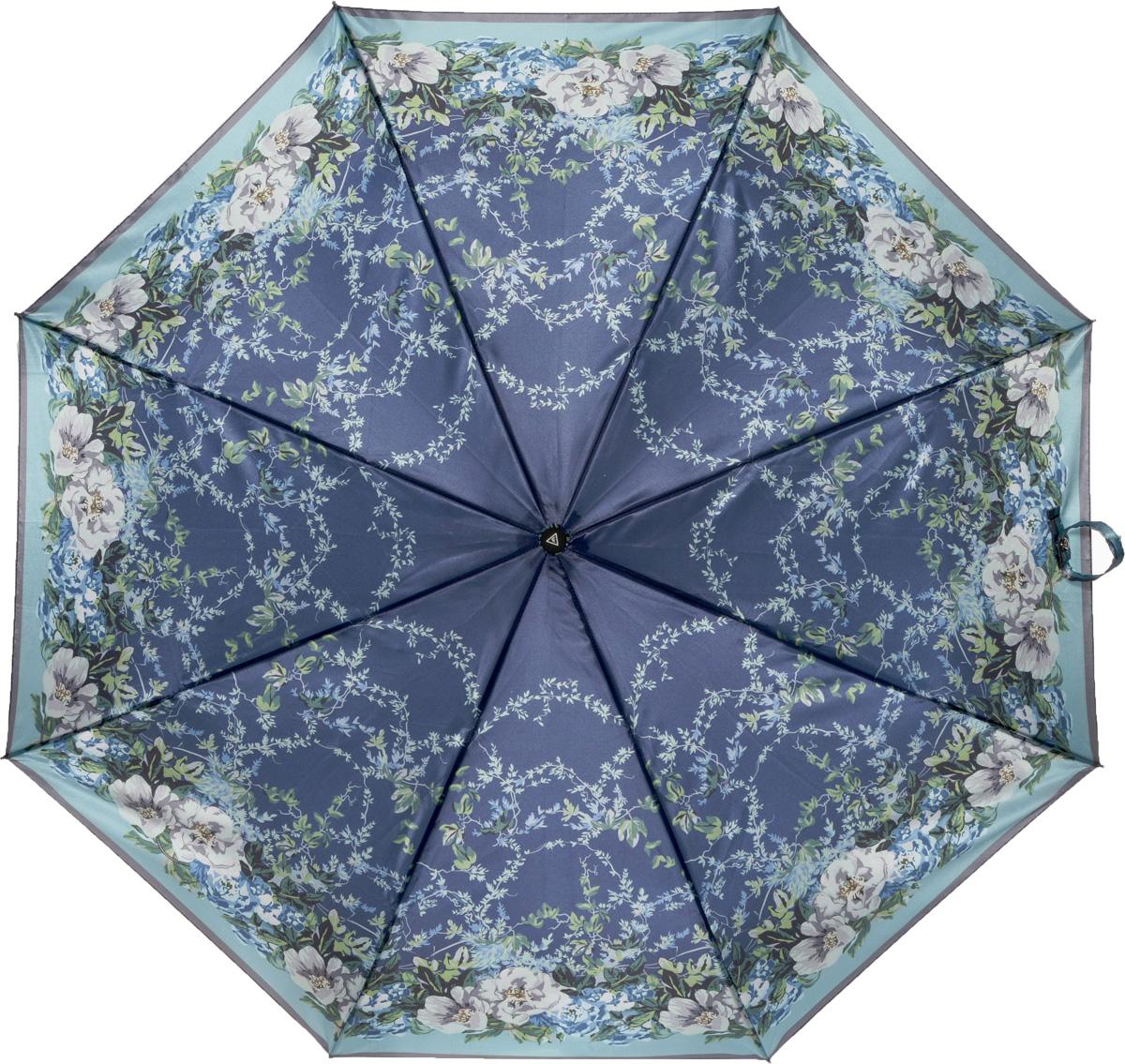Зонт женский Fabretti, полный автомат, 3 сложения, цвет: мультиколор. S-16100-12S-16100-12Зонт женский Fabretti, суперавтомат, 3 сложения, сатин