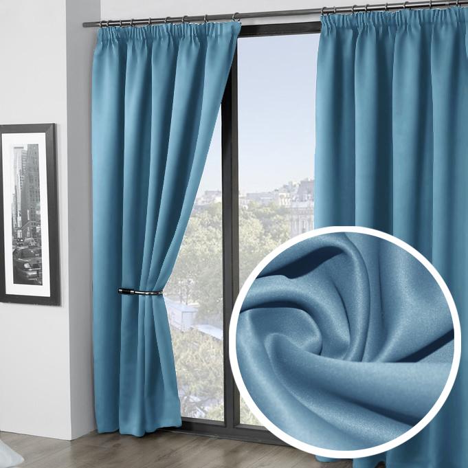 Портьера Amore Mio Блэкаут, 200х270 см, 2 шт, цвет: голубой. 74460