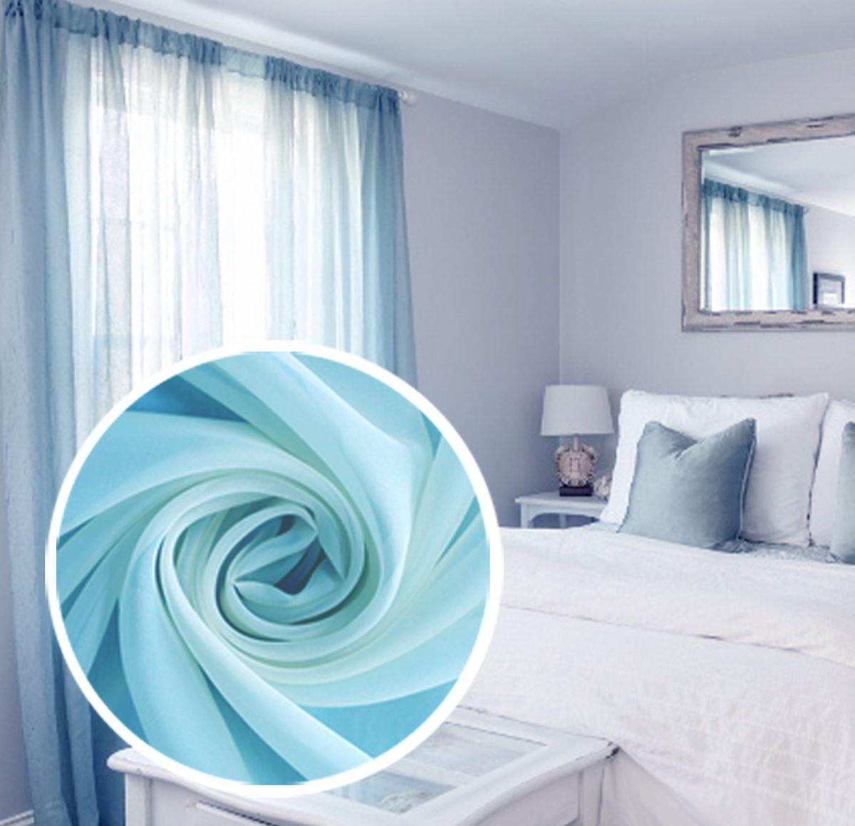 Тюль Amore Mio Однотонная, на ленте, цвет: голубой, высота 270 см77539Тюль Amore Mio нежного цвета в классическом однотонном исполнении изготовлен из 100% полиэстера. Воздушная ткань привлечет к себе внимание и идеально оформит интерьер любого помещения. Полиэстер - вид ткани, состоящий из полиэфирных волокон. Ткани из полиэстера легкие, прочные и износостойкие. Такие изделия не требуют специального ухода, не пылятся и почти не мнутся. Крепление к карнизу осуществляется при помощи вшитой шторной ленты.