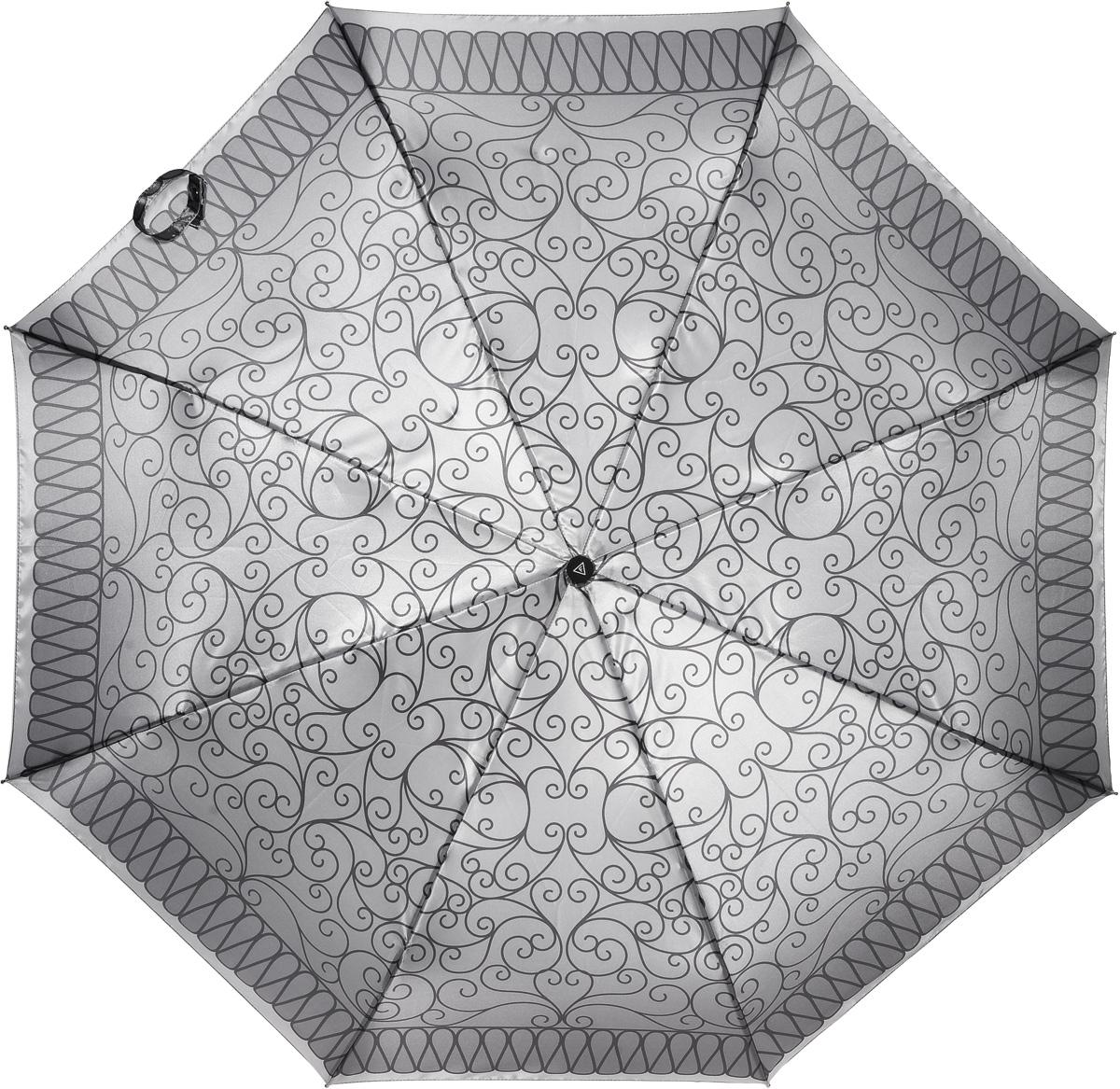 Зонт женский Fabretti, автомат, 3 сложения. L-16104-8L-16104-8Зонт женский Fabretti, облегченный суперавтомат, 3 сложения