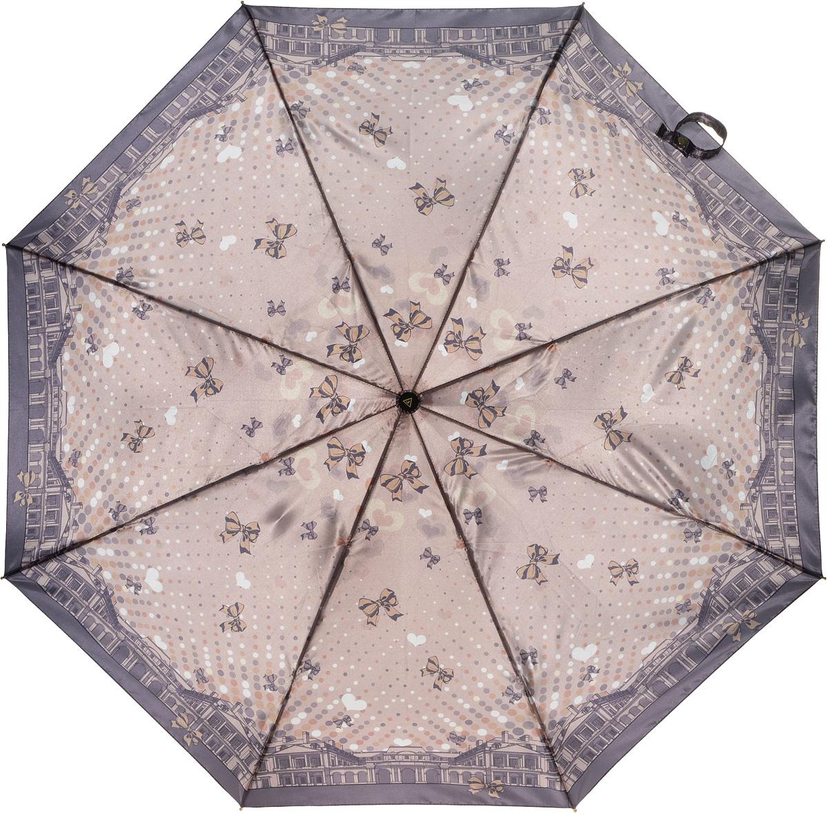 Зонт женский Fabretti, автомат, 3 сложения. L-16107-3L-16107-3Зонт женский Fabretti, облегченный суперавтомат, 3 сложения