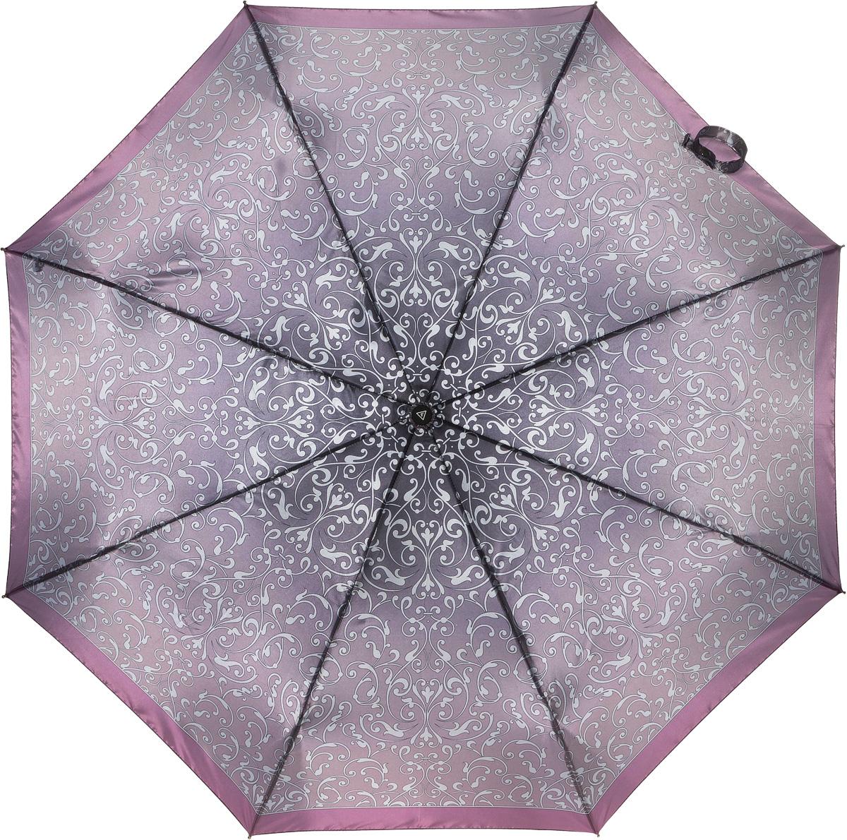 Зонт женский Fabretti, автомат, 3 сложения. L-16104-18L-16104-18Зонт женский Fabretti, облегченный суперавтомат, 3 сложения