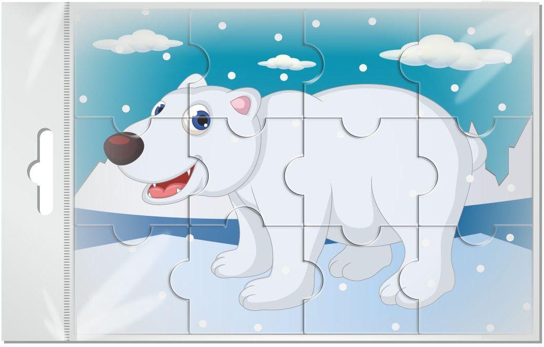 Издательская группа Квадра Пазл для малышей магнитный Белый медведь01449Магнитные пазлы, из которых ребенок может самостоятельно собрать картинку. Детали пазла объемные и крупные - маленьким детям удобно с ними играть. Складывая пазл, ребенок развивает мелкую моторику и мышление, учится различать понятия части и целого.Благодаря магнитной основе пазл хорошо держится на металлической поверхности.Пока мамочка готовит кушать,малыш может собрать даже на холодильнике!