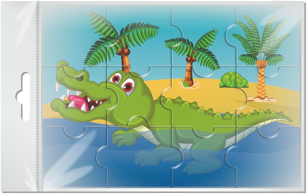 Издательская группа Квадра Пазл для малышей магнитный Крокодил01458Магнитные пазлы, из которых ребенок может самостоятельно собрать картинку. Детали пазла объемные и крупные - маленьким детям удобно с ними играть. Складывая пазл, ребенок развивает мелкую моторику и мышление, учится различать понятия части и целого.Благодаря магнитной основе пазл хорошо держится на металлической поверхности.Пока мамочка готовит кушать,малыш может собрать даже на холодильнике!