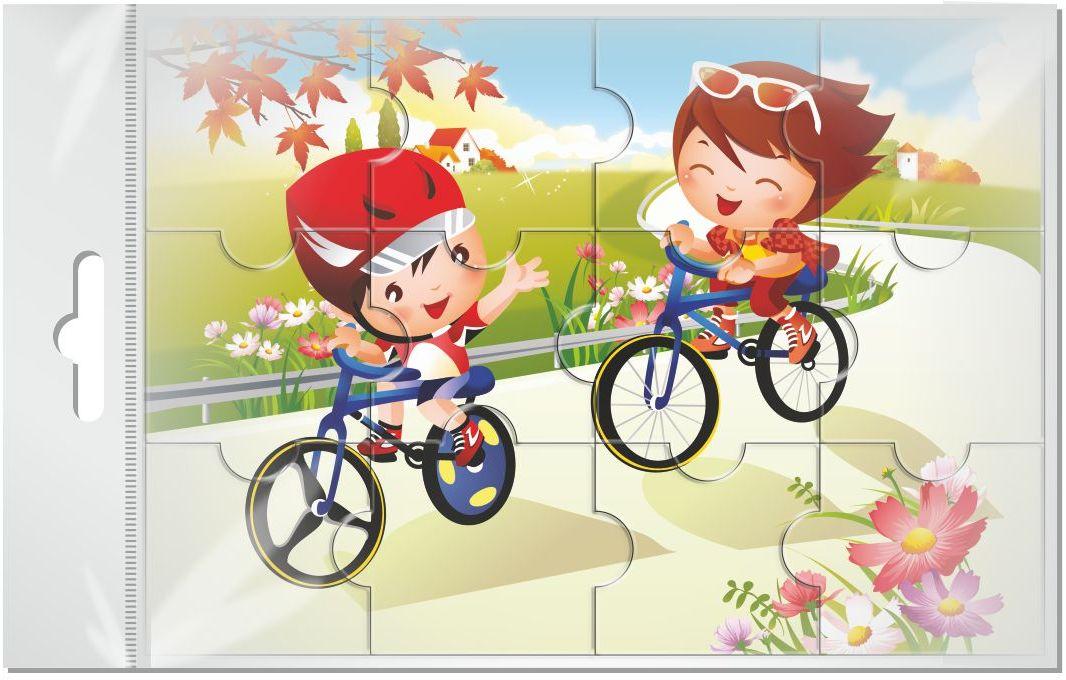 Издательская группа Квадра Пазл для малышей магнитный Прогулка на велосипедах02026Магнитные пазлы, из которых ребенок может самостоятельно собрать картинку. Детали пазла объемные и крупные - маленьким детям удобно с ними играть. Складывая пазл, ребенок развивает мелкую моторику и мышление, учится различать понятия части и целого.Благодаря магнитной основе пазл хорошо держится на металлической поверхности.Пока мамочка готовит кушать,малыш может собрать даже на холодильнике!
