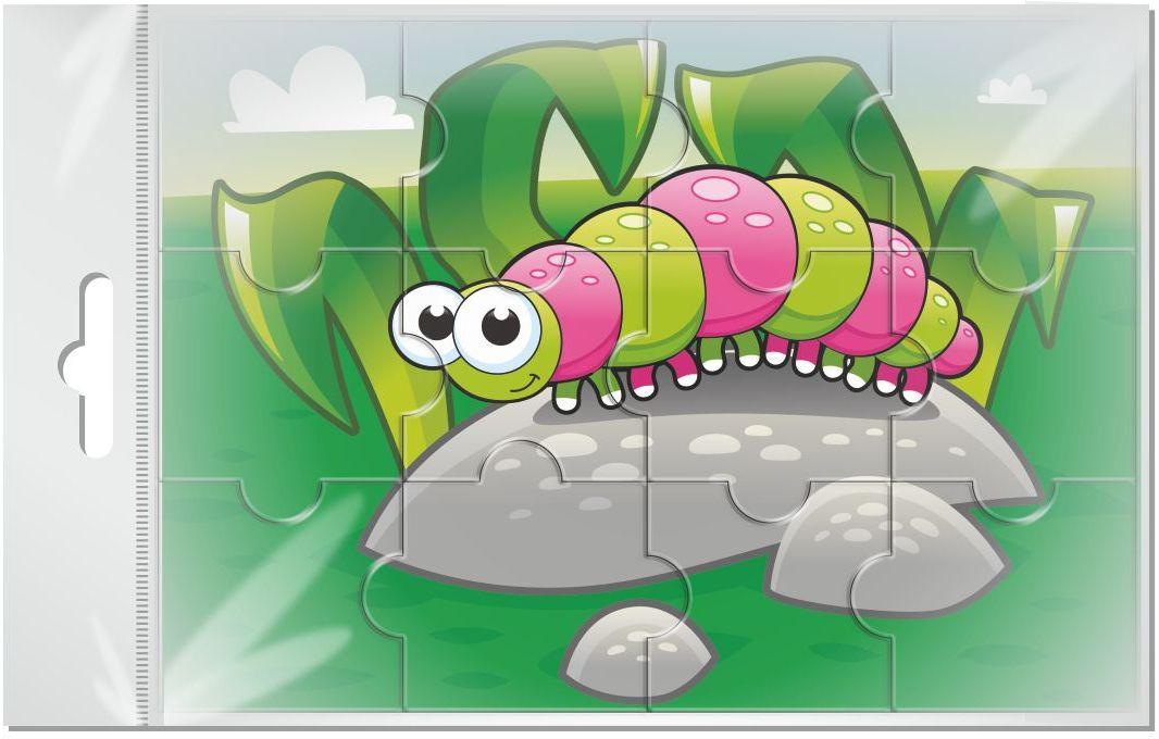 Издательская группа Квадра Пазл для малышей магнитный Гусенница02052Магнитные пазлы, из которых ребенок может самостоятельно собрать картинку. Детали пазла объемные и крупные - маленьким детям удобно с ними играть. Складывая пазл, ребенок развивает мелкую моторику и мышление, учится различать понятия части и целого.Благодаря магнитной основе пазл хорошо держится на металлической поверхности.Пока мамочка готовит кушать,малыш может собрать даже на холодильнике!