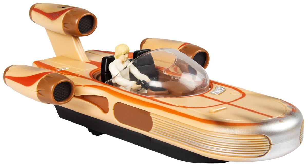 Star Wars Игрушка на радиоуправлении X-34 Land Speeder44546_20070044_бежевыйИгрушка на радиоуправлении Star Wars X-34 Land Speeder непременно порадует юного поклонника всеми любимой саги Звездные войны. Игрушка выполнена в форме транспортного средства Люка Скайуокера. Игрушка управляется с помощью пульта управления. Возможные движения: влево, вправо, вперед и назад. Звуковые эффекты будут активизироваться по мере движения игрушки. Для работы игрушки необходимо купить 3 батарейки напряжением 1,5V типа ААА (не входят в комплект). Для работы пульта управления необходимо купить 3 батарейки напряжением 1,5V типа ААА (не входят в комплект).