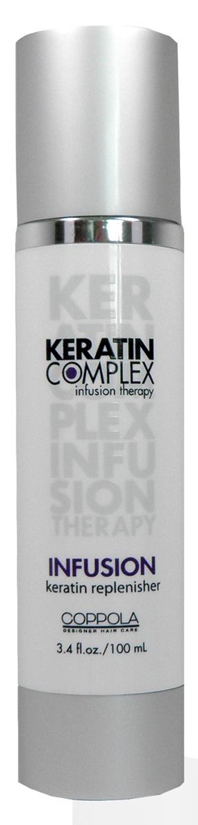 Keratin Complex Кератиновое питание для волос (Infusion), 102 мл21356KCГлубоко наполняет волосы белками кератина, защищает от внешних воздействий и ультрафиолетовых лучей. Это одно из средств, которое стоит применять после кератинового выпрямления волос. Восстанавливает, укрепляет, возвращает силу любому типу волос.
