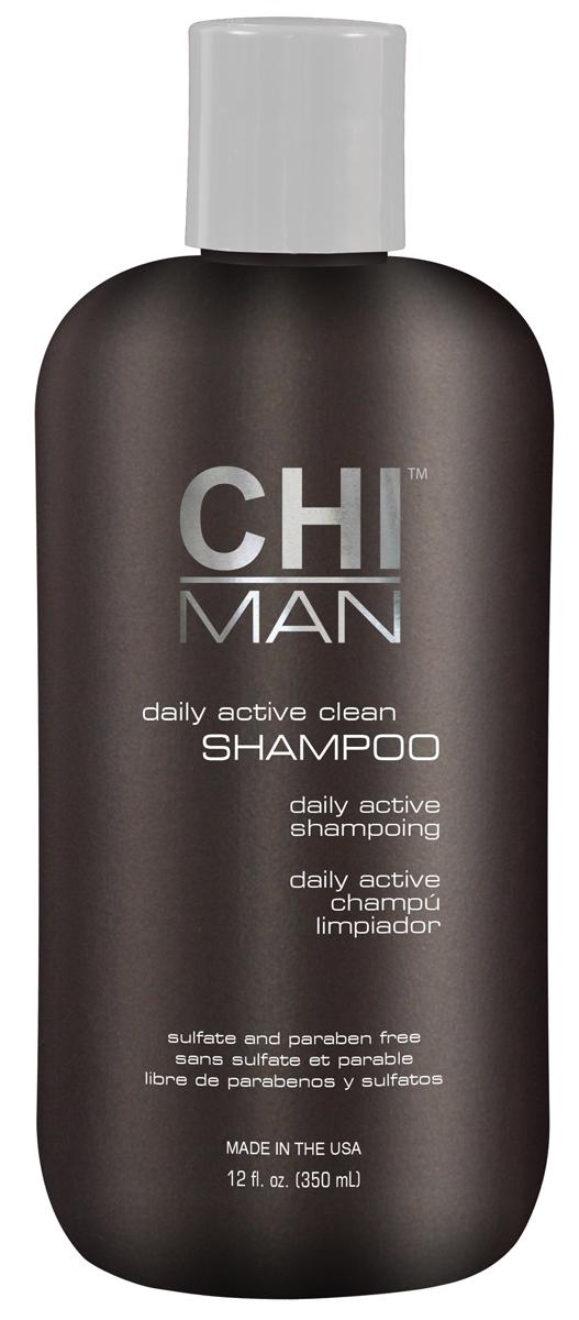 CHI Шампунь для мужчин Man 350 млCHI5630Шампунь, разработанный с учетом особенностей волос и кожи головы у мужчин. Содержит экстракты растительных ингредиентов. Мягко, но эффективно очищает волосы и кожу головы. Не утяжеляет. Подходит для ежедневного применения.