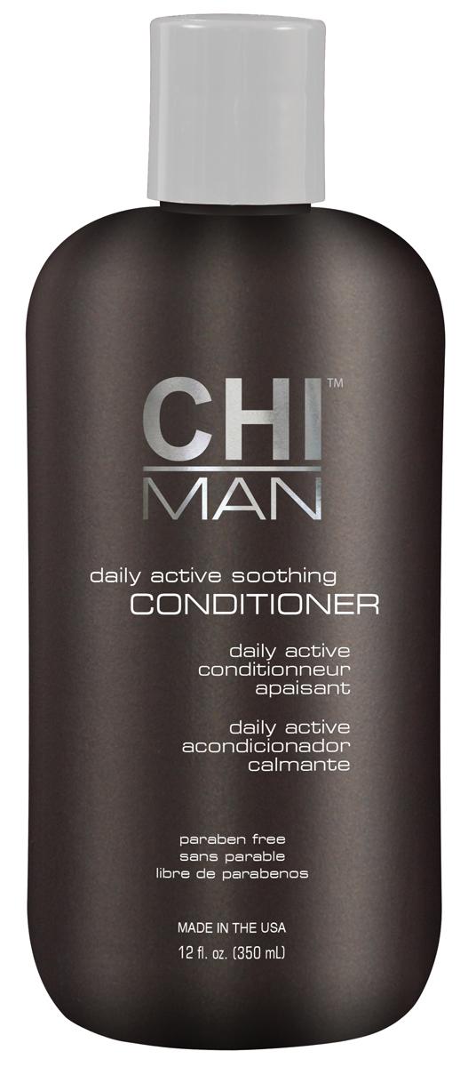 CHI Кондиционер для мужчин Man 350 млCHI5634Кондиционер обогащен натуральными ингредиентами, Разглаживает и смягчает волосы, освежает кожу головы. Содержит растительный комплекс, благодаря которому улучшается состояние волос и кожи головы.