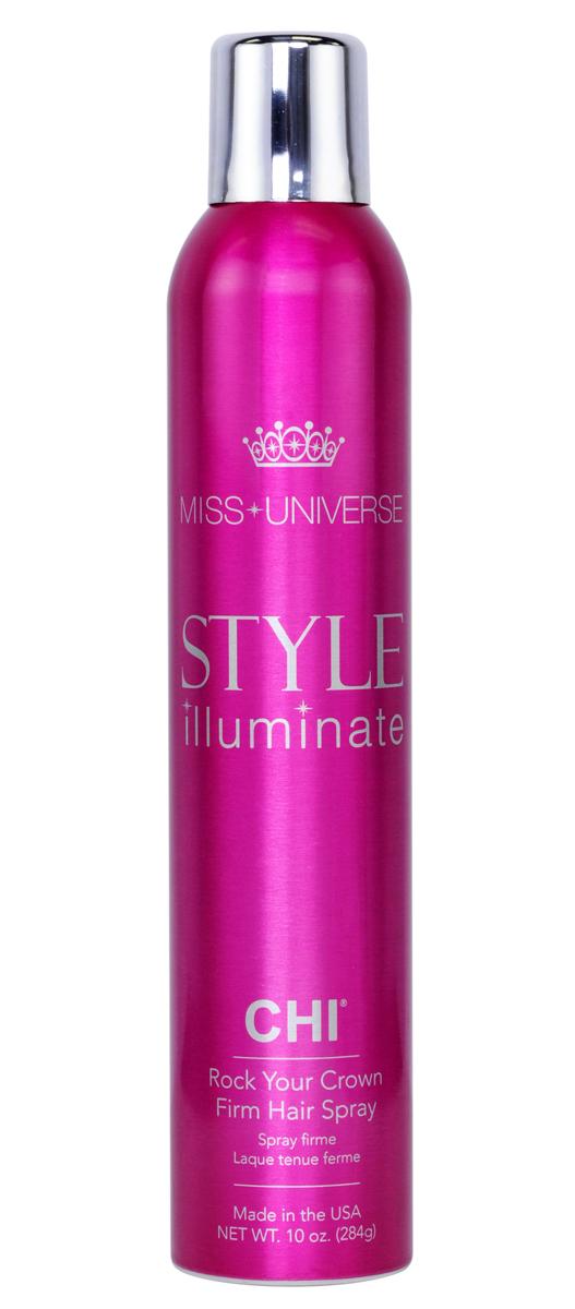 CHI Лак для волос сильной фиксации Miss Universe 284гCHIMFS10Лак для волос CHI Мисс Вселенная сильной фиксации – лак созданный для полного контроля укладки. Быстросохнущая невесомая формула позволяет сохранять Вашу укладку целый день. Без утяжеления волос!