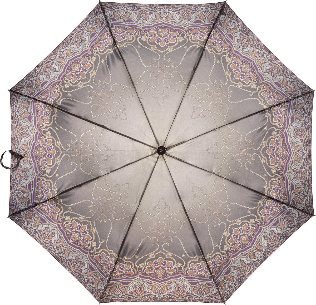 Зонт женский Fabretti, автомат, 3 сложения. L-16107-13L-16107-13Зонт женский Fabretti, облегченный суперавтомат, 3 сложения