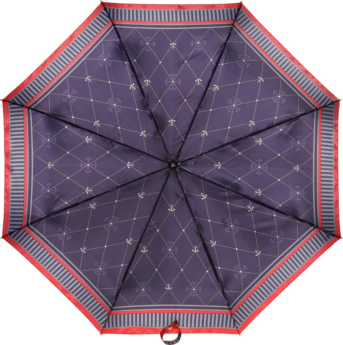 Зонт женский Fabretti, автомат, 3 сложения, цвет: мультиколор. L-16105-6L-16105-6Зонт женский Fabretti, облегченный суперавтомат, 3 сложения