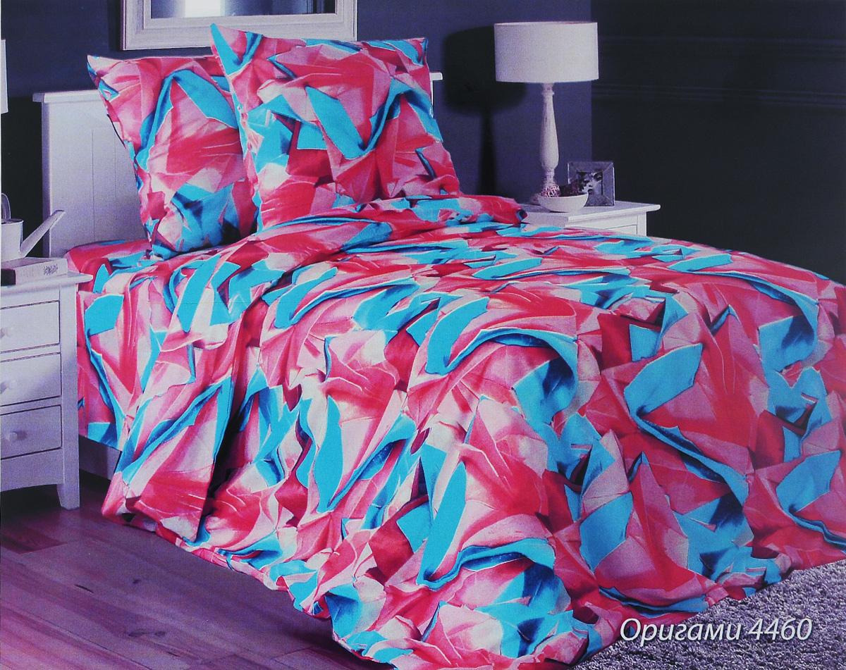 Комплект белья Блакiт Оригами, 1,5-спальный, наволочки 70х70, цвет: бирюзовый, розовый, бордовый21484460Роскошный комплект белья Блакiт Оригами, выполненный из бязи (100% натурального хлопка), состоит пододеяльника, простыни и двух наволочек. Постельное белье оформлено оригинальным принтом и обладает яркостью и сочностью цвета. Бязь - это ткань полотняного переплетения, изготовленная из экологически чистого и натурального 100% хлопка. Она приятная на ощупь, при этом очень прочная, хорошо сохраняет форму и легко гладится. Ткань прекрасно пропускает воздух и за ней легко ухаживать. Приобретая комплект постельного белья Блакiт Оригами, вы можете быть уверенны в том, что покупка доставит вам и вашим близким удовольствие и подарит максимальный комфорт.