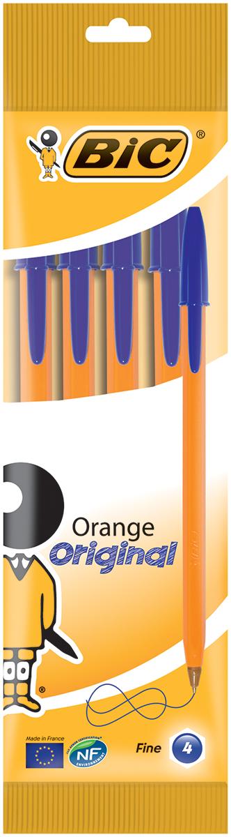 Bic Набор шариковых ручек Orange цвет чернил синий 4 штB8308521Набор шариковых ручек Bic Orange станет незаменимым атрибутом в учебе любого школьника и на работе. В наборе 4 шариковые ручки с колпачками, цвет чернил - синий. Ручка Orange, пожалуй, самая востребованная ручка в мире. Тонкая линия письма, яркий корпус и пишущий узел с уменьшенным шариком обеспечивают неповторимый комфорт письма.