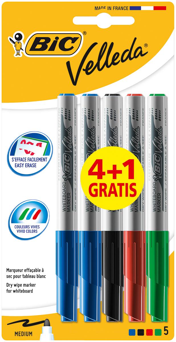 Bic Набор маркеров для досок Velleda 5 шт