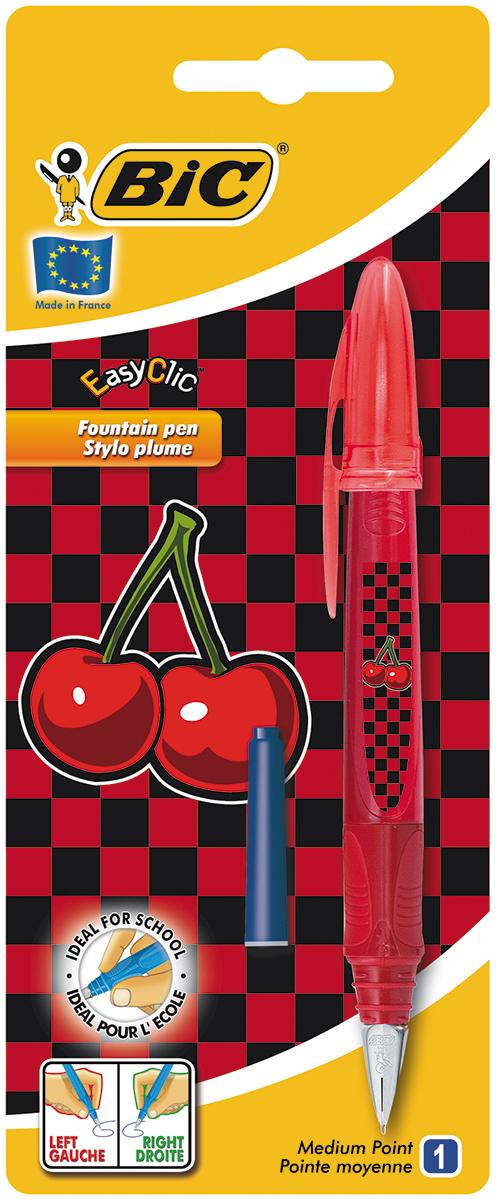 Перьевая ручка Easy Click Classic в эргономичном пластиковом корпусе станет отличным подарком, как школьнику, так и взрослому человеку. Перо из стали обеспечивает равномерную подачу чернил. Стальной иридиевый пишущий узел позволяет чертить линии толщиной 0,5 мм. Ручка дополнена колпачком с удобным клипом. Ручка одинаково удобна для письма как левой, так и правой рукой. Ручка снабжена инновационной удобной системой замены картриджа. В комплекте с ручкой имеется картридж с синими чернилами.