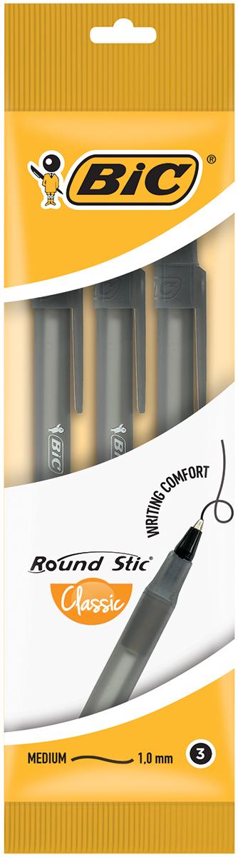 Bic Набор шариковых ручек Round Stick цвет чернил черный 3 штB9017721Набор шариковых ручек Bic Round Stick станет незаменимым атрибутом в учебе любого школьника и на работе. В наборе 3 шариковые ручки, цвет чернил - черный. Ручки имеют специальный вентилирующий колпачок и пишущий узел с уменьшенным шариком, обеспечивающий комфорт при письме.