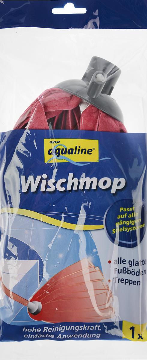 Насадка для швабры Aqualine, сменная, цвет: красный9022_красныйСменная лепестковая насадка Aqualine предназначена для уборки всех видов полов. Специальная структура микроактивного волокна убирает даже сильные, затвердевшие загрязнения, не оставляя разводов, влага впитывается полностью. Длина насадки: 25 см.