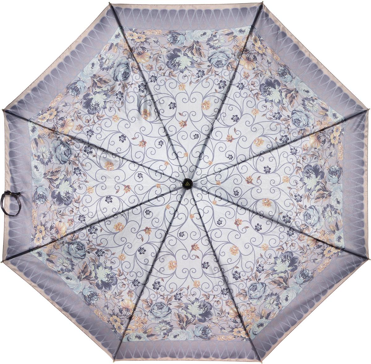 Зонт женский Fabretti, автомат, 3 сложения. L-16107-4L-16107-4Зонт женский Fabretti, облегченный суперавтомат, 3 сложения