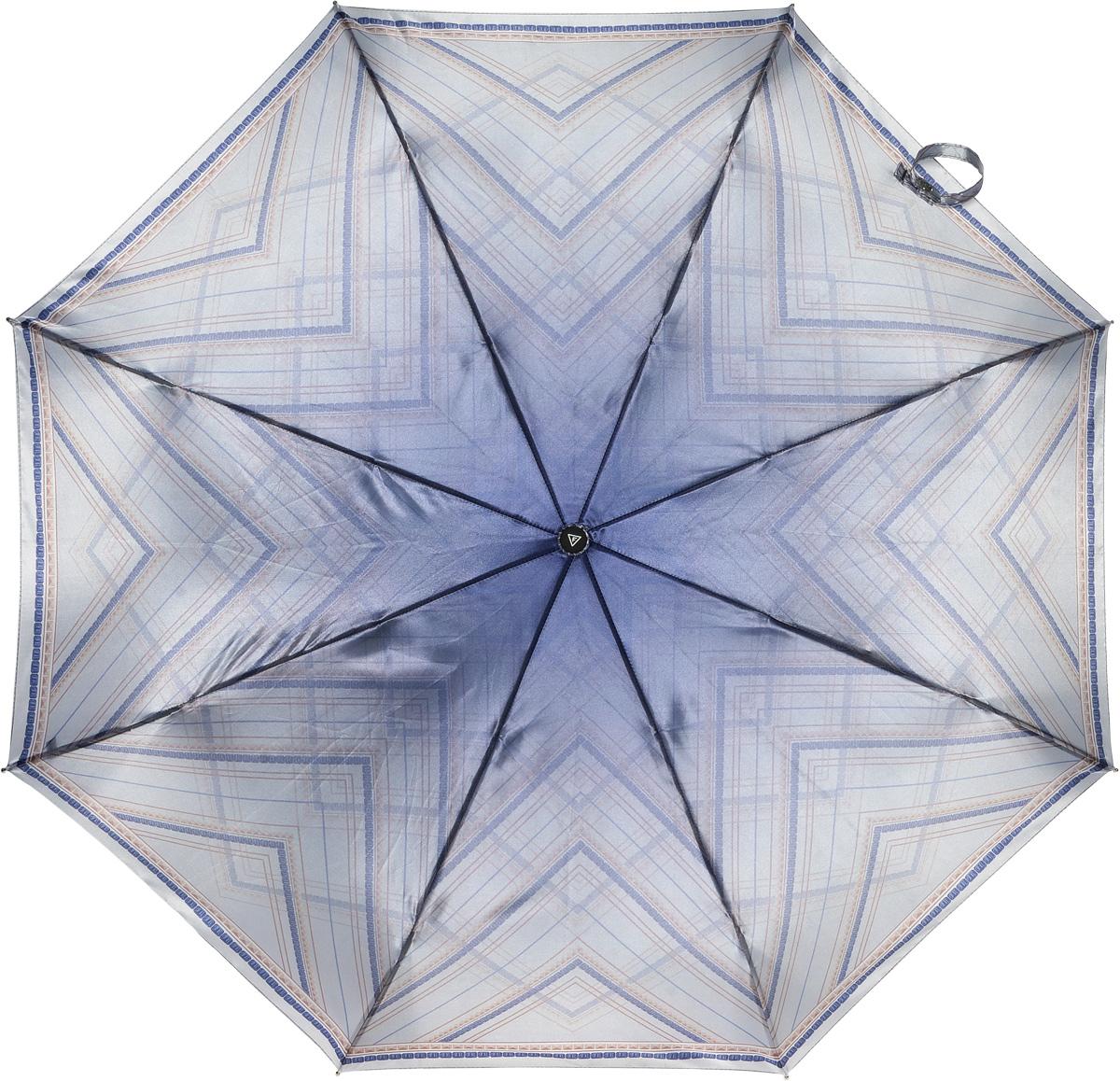 Зонт женский Fabretti, полный автомат, 3 сложения, цвет: серый. S-16101-5S-16101-5Зонт женский Fabretti, суперавтомат, 3 сложения, сатин