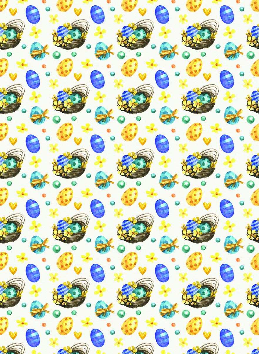 Рисовая бумага для декупажа Craft Premier Пасхальные корзинки, А3CPD0595Плотность бумаги 25 г/м