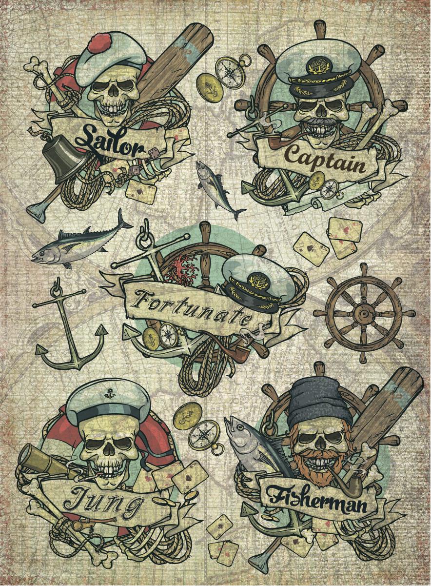 Рисовая бумага для декупажа Craft Premier Морские истории, А3CPD0607Плотность бумаги 25 г/м