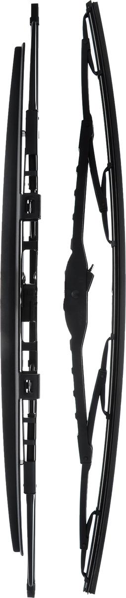 Щетка стеклоочистителя Bosch 583S, каркасная, со спойлером, длина 53 см, 2 шт3397001583Щетка Bosch 583S, выполненная по современной технологии из высококачественных материалов, оптимально подходит для замены оригинальных щеток, установленных на конвейере. Обеспечивает идеальную очистку стекла в любую погоду. TWIN Spoiler - серия классических каркасных щеток со спойлером. Эти щетки имеют полностью металлический каркас с двойной защитой от коррозии и сверхточный профиль резинового элемента с двумя чистящими кромками. Спойлер, выполненный в виде крыла, закрывает каркас щетки от воздушного потока. Комплектация: 2 шт.