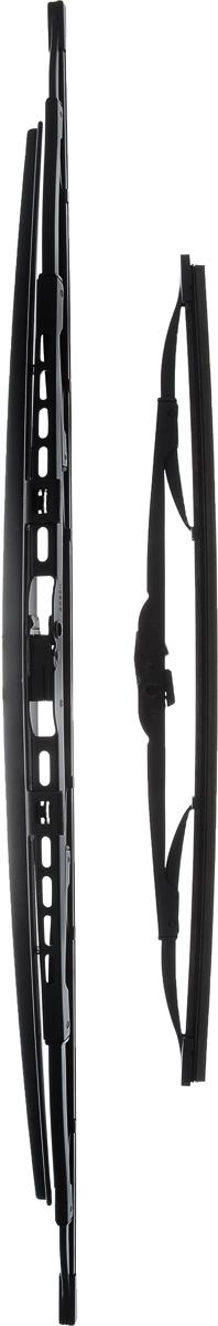 Щетка стеклоочистителя Bosch 653S, каркасная, со спойлером, длина 65/40 см, 2 шт3397118325Щетка Bosch 653S, выполненная по современной технологии из высококачественных материалов, оптимально подходит для замены оригинальных щеток, установленных на конвейере. Обеспечивает идеальную очистку стекла в любую погоду. TWIN Spoiler - серия классических каркасных щеток со спойлером. Эти щетки имеют полностью металлический каркас с двойной защитой от коррозии и сверхточный профиль резинового элемента с двумя чистящими кромками. Спойлер, выполненный в виде крыла, закрывает каркас щетки от воздушного потока. Комплектация: 2 шт.