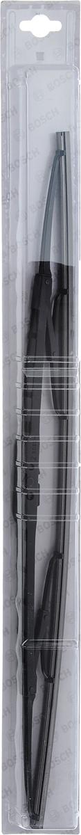 Щетка стеклоочистителя Bosch 53C, каркасная, длина 53 см, 1 шт3397004671Универсальная щетка Bosch 53C - функциональный стеклоочиститель с металлическими скобами, который характеризуется хорошей эффективностью очистки и качеством. Каркас щетки выполнен из металла с антикоррозийным покрытием и имеет форму, способствующую уменьшению подъемной силы на высоких скоростях. Натуральная резина щетки с графитовым напылением обеспечивает тщательность очистки. Щетка имеет крепление крючок. Быстрый монтаж, благодаря предварительно установленному универсальному адаптеру Quick Clip.