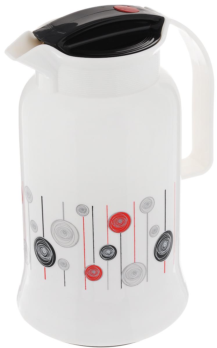 Термос Mayer & Boch, 1 л. 2001720017Термос Mayer & Boch выполнен из термостойкого пластика со стеклянной колбой в виде кувшина с ручкой. Материалы не вступают в реакцию с содержимым термоса и не изменяют вкусовых качеств напитка. Благодаря свойствам стекла, термос может быть использован для заваривания напитков с устойчивыми ароматами. Завинчивающаяся герметичная крышка предохранит от проливаний. Вы можете взять его на отдых, на работу или в путешествие. Изделие идеально подходит для сохранения напитка горячим или холодным в течение нескольких часов. Красивый дизайн термоса поднимет настроение и станет настоящим украшением любой кухни. Диаметр термоса (по верхнему краю): 10 см. Высота термоса (с учетом крышки): 26 см.