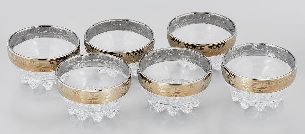 Набор салатников Гусь-Хрустальный Версаче, 200 мл, 6 штGE08-3258Набор Гусь-Хрустальный Версаче, выполненный из высококачественного натрий- кальций-силикатного стекла, состоит из 6 глубоких салатников. Изделия оформлены красивым зеркальным покрытием и матовым орнаментом. Такие салатники прекрасно подходят для сервировки различных закусок, подачи салатов из свежих овощей, фруктов и многого другого. Уважаемые клиенты! Обращаем ваше внимание на незначительные изменения в дизайне товара, допускаемые производителем. Поставка осуществляется в зависимости от наличия на складе.