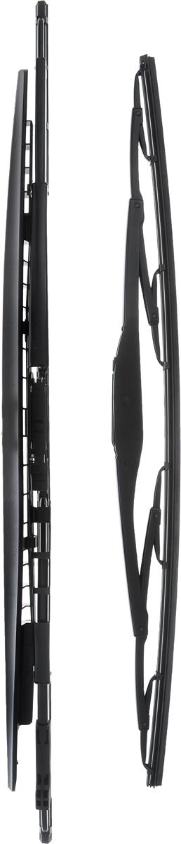 Щетка стеклоочистителя Bosch 394S, каркасная, со спойлером, длина 50/58 см, 2 шт3397001394Комплект Bosch 394S состоит из двух щеток разной длины, выполненных по современной технологии из высококачественных материалов. Они обеспечивают идеальную очистку стекла в любую погоду. TWIN Spoiler - серия классических каркасных щеток со спойлером от компании Bosch. Эти щетки имеют полностью металлический каркас с двойной защитой от коррозии и сверхточный профиль резинового элемента с двумя чистящими кромками. Спойлер выполнен в виде крыла, который закрывает каркас щетки от воздушного потока. Комплектация: 2 шт. Длина щеток: 50 см; 58 см.