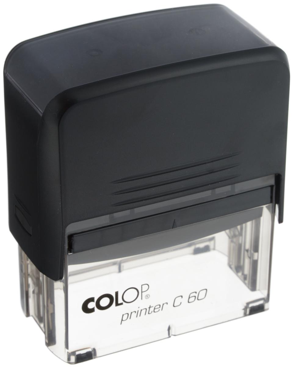 Colop Оснастка для штампа 37 х 76 ммPrinter C60Автоматическая оснастка Colop с надежным корпусом из пластика и поворотным механизмом, окрашивающим текст. Абсолютно прозрачное основание для удобства размещения штампа на документах. В комплекте: оснастка, синяя сменная подушка.