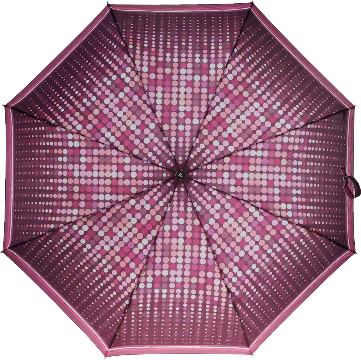 Зонт женский Fabretti, автомат, 3 сложения, цвет: бордовый. L-16102-8L-16102-8Зонт женский Fabretti, облегченный суперавтомат, 3 сложения