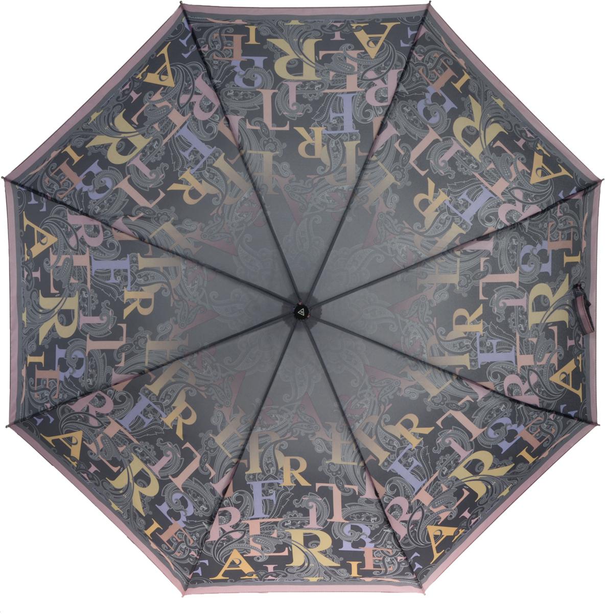 Зонт женский Fabretti, автомат, 3 сложения, цвет: коричневый. L-16100-4L-16100-4Зонт женский Fabretti, облегченный суперавтомат, 3 сложения.Оригинальный, молодежный женский зонт. Зонтик станет незаменимым защитником от дождя.