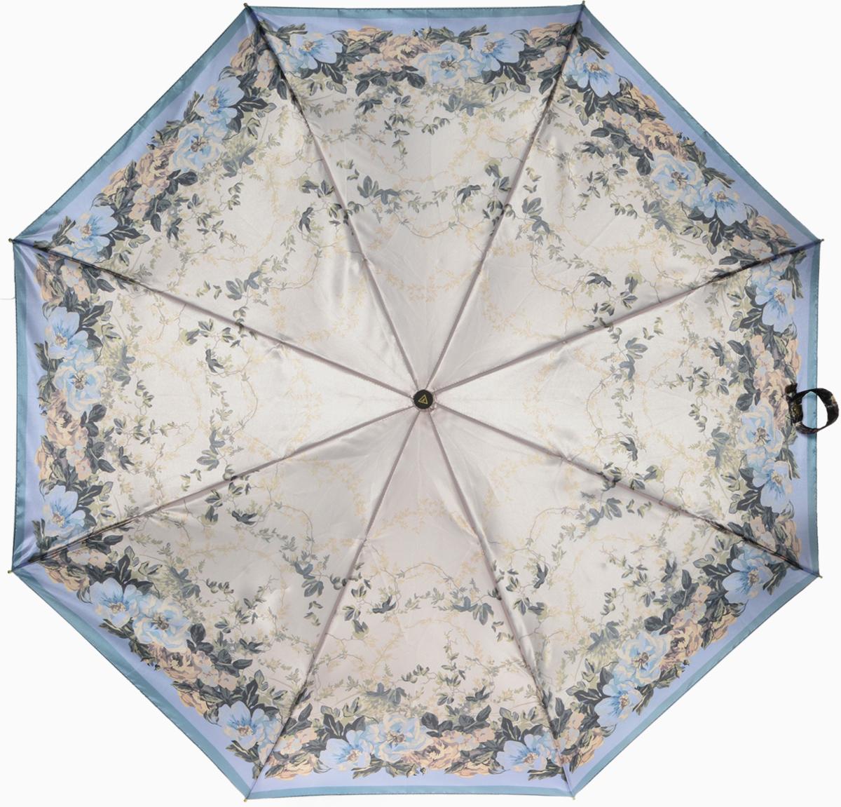 Зонт женский Fabretti, автомат, 3 сложения, цвет: мультиколор. L-16107-28L-16107-28Зонт женский Fabretti, облегченный суперавтомат, 3 сложения