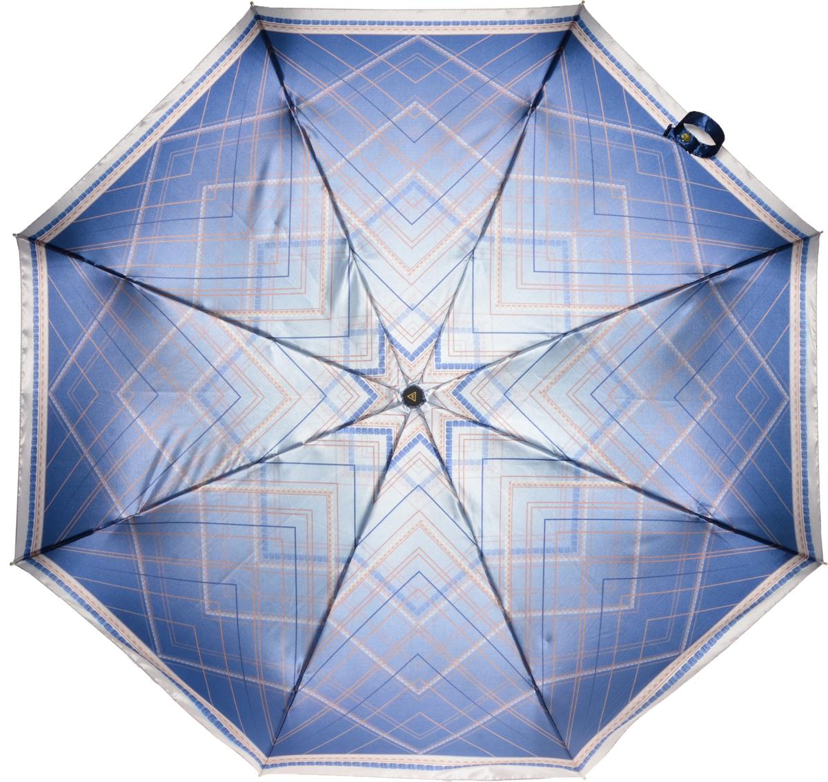 Зонт женский Fabretti, автомат, 3 сложения, цвет: серый. L-16107-10L-16107-10Зонт женский Fabretti, облегченный суперавтомат, 3 сложения