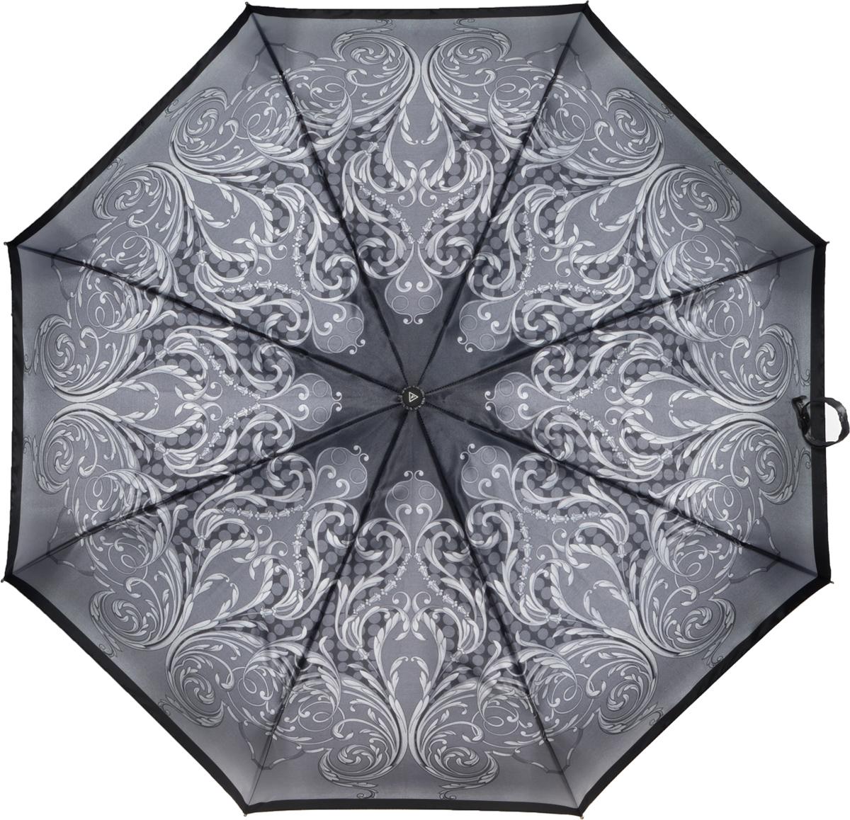 Зонт женский Fabretti, автомат, 3 сложения, цвет: мультиколор. L-16106-12L-16106-12Зонт женский Fabretti, облегченный суперавтомат, 3 сложения