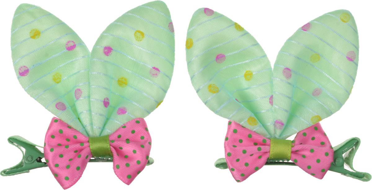 Baby\'s Joy Зажим для волос цвет светло-зеленый розовый 2 шт VT 249 ( VT 249_салатовый,розовый )