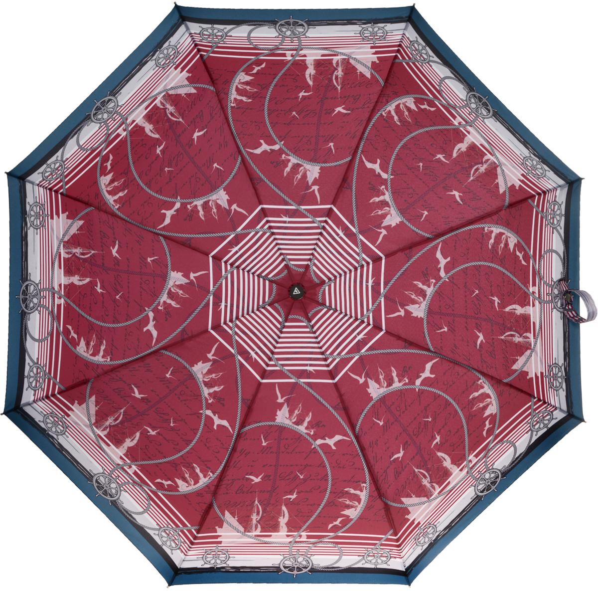 Зонт женский Fabretti, автомат, 3 сложения, цвет: бордовый. L-16102-5L-16102-5Зонт женский Fabretti, облегченный суперавтомат, 3 сложения.Женский зонт– это не просто защита от дождя, но и красивый, стильный аксессуар, который будет выгодно подчеркивать женственность и утонченность обладательницы