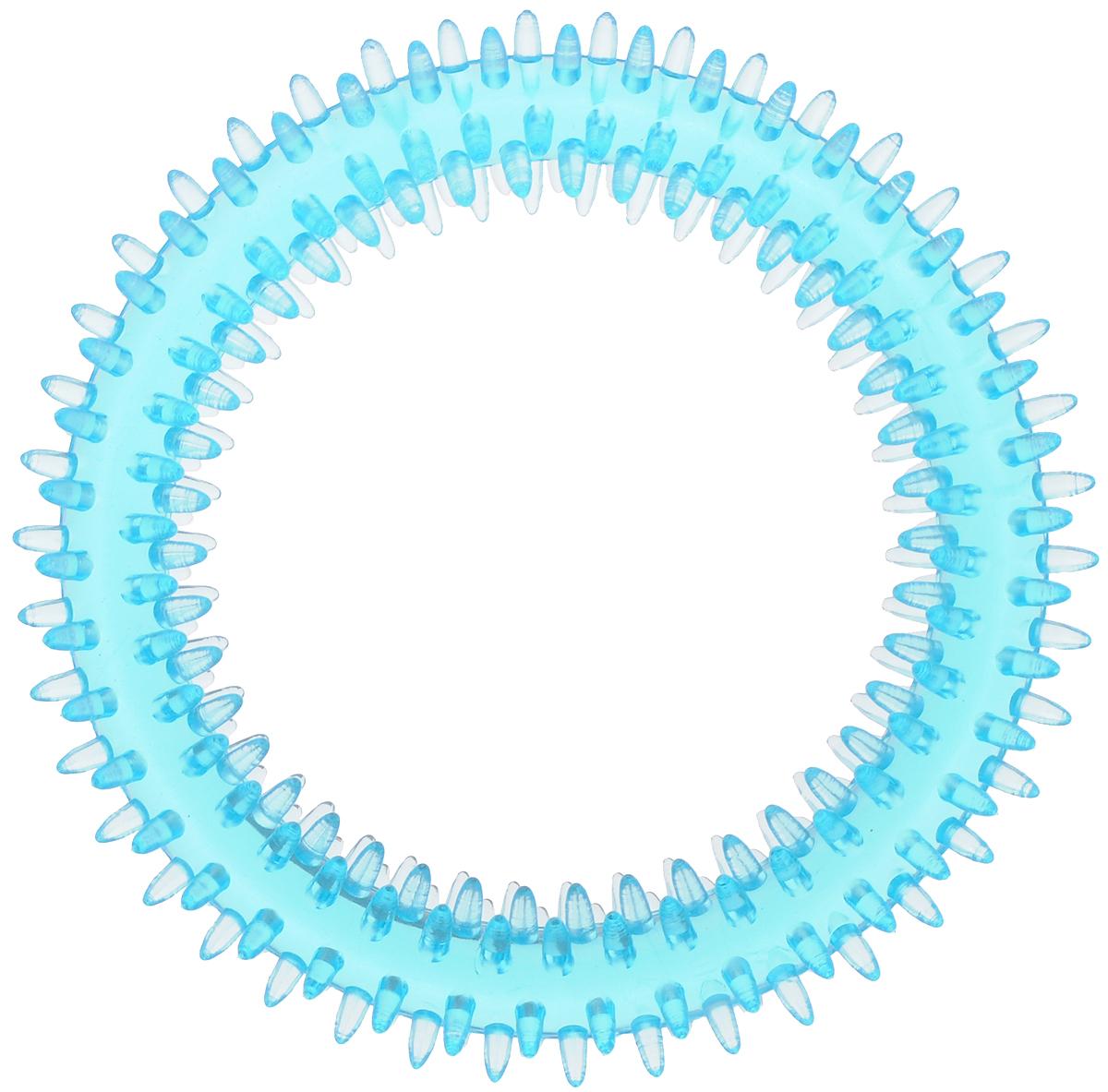 Игрушка для собак Каскад Кольцо шипованное для чистки зубов, цвет: голубой, диаметр 12 см27799327Игрушка для собак Каскад Кольцо шипованное для чистки зубов, изготовленная из акрила, обязательно понравится вашей собаке. Игрушка снабжена специальными шипами, которые помогают эффективно очищать зубы и массировать десны. Игрушка отличается прочностью и в то же время гибкостью и эластичностью.