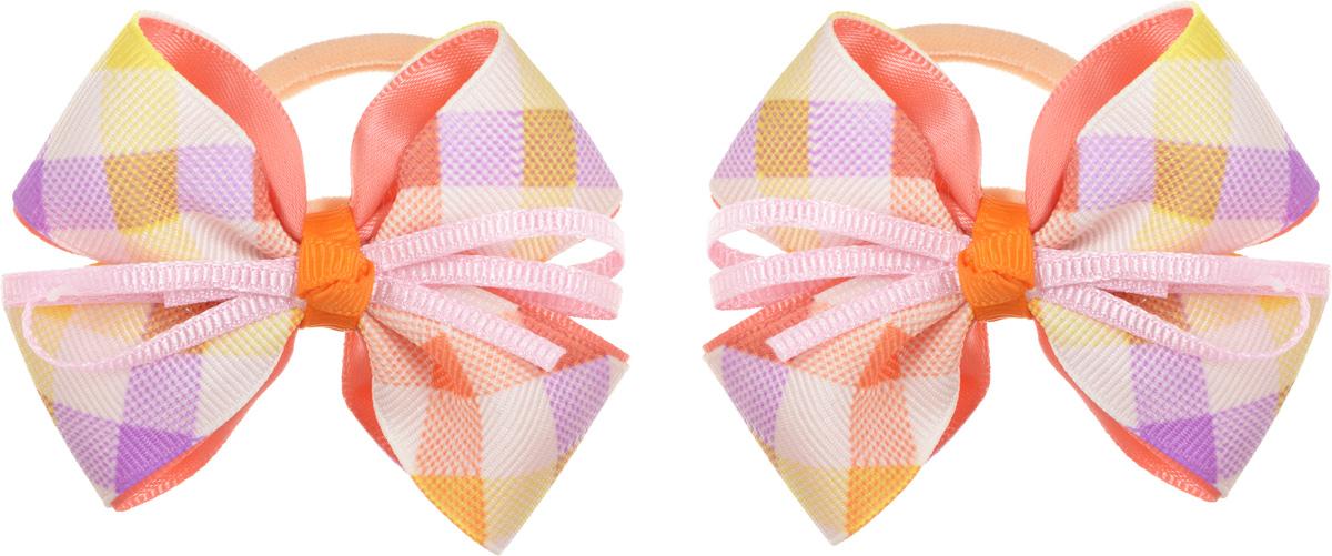 Babys Joy Резинка для волос Бантик цвет коралловый 2 шт MN 164/2MN 164/2_коралловый,клеткаРезинка для волос Babys Joy Бантик декорирована пышными бантами из репсовой ленты с цветным рисунком в клетку. Резинка позволит не только убрать непослушные волосы с лица, но и придать образу романтичности и очарования. Такая резинка для волос подчеркнет уникальность вашей маленькой модницы и станет прекрасным дополнением к ее неповторимому стилю.