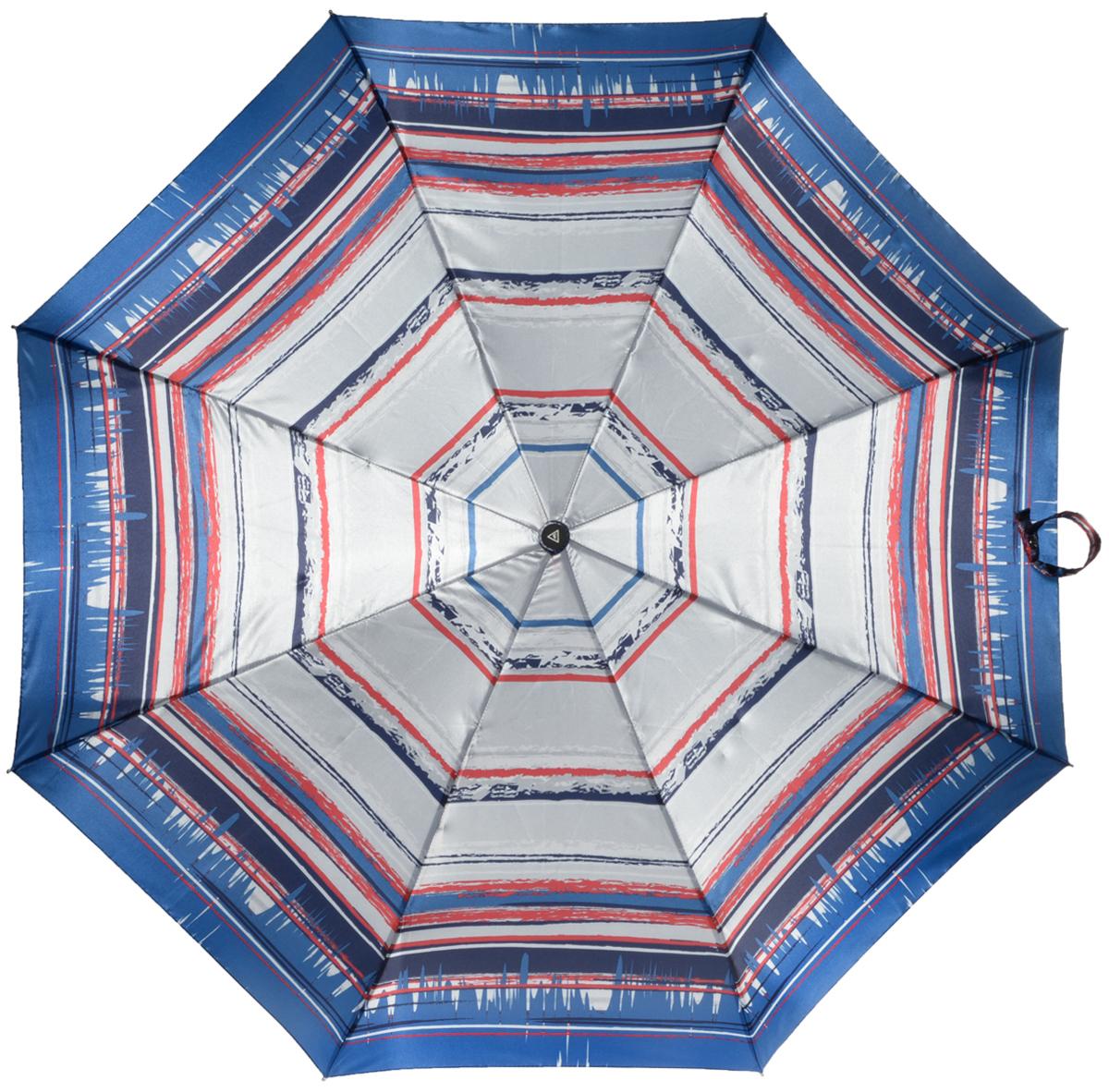 Зонт женский Fabretti, автомат, 3 сложения, цвет: мультиколор. L-16105-7L-16105-7Зонт женский Fabretti, облегченный суперавтомат, 3 сложения