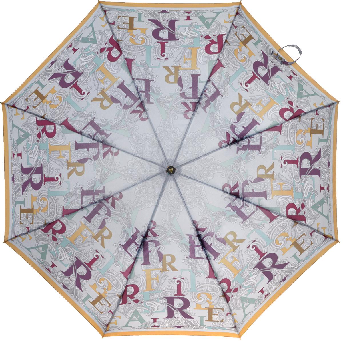 Зонт женский Fabretti, автомат, 3 сложения, цвет: мультиколор. L-16103-2L-16103-2Зонт женский Fabretti, облегченный суперавтомат, 3 сложения